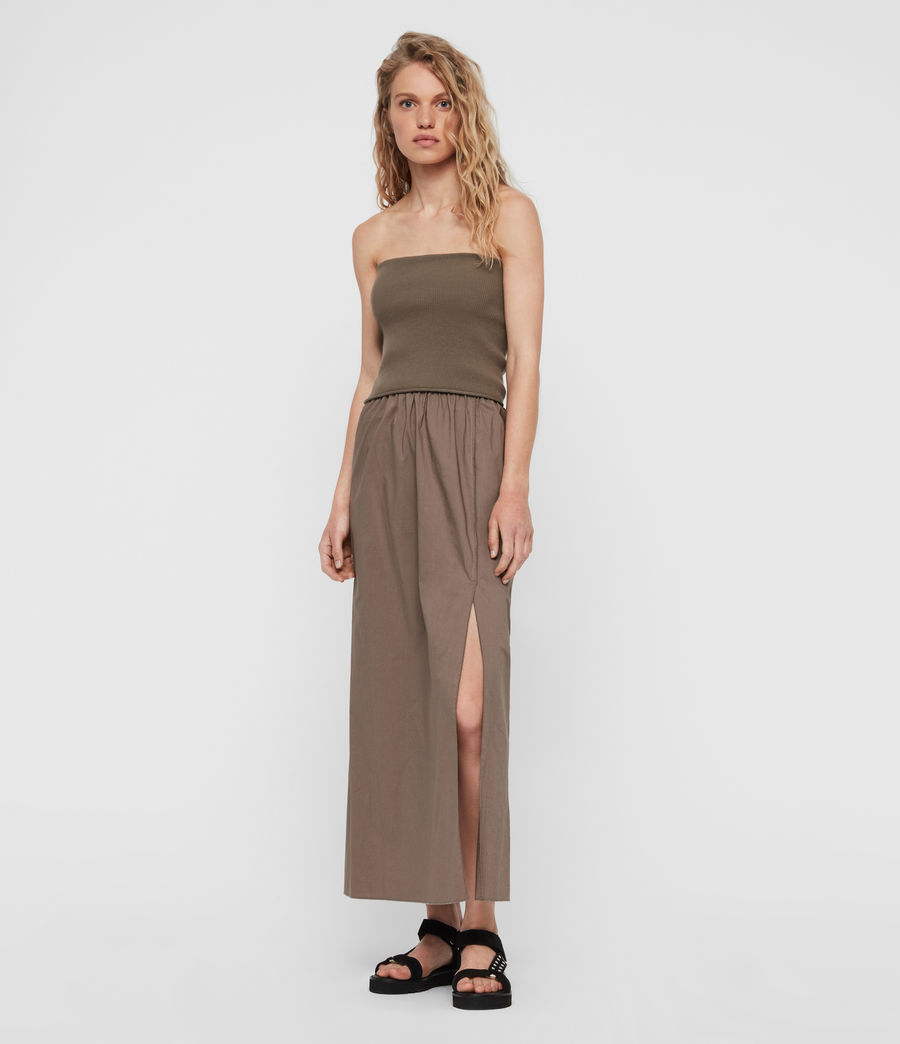 Womens Sono Dress (khaki) - Image 1
