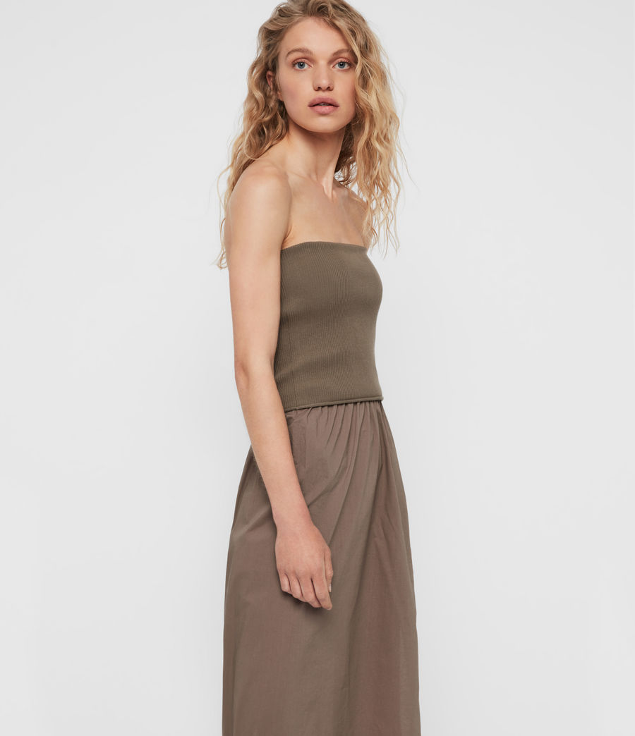 Womens Sono Dress (khaki) - Image 2
