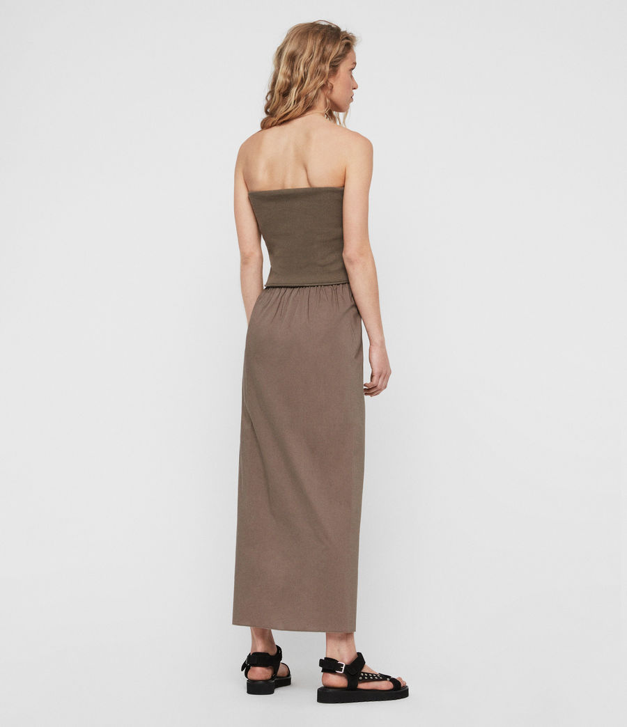 Womens Sono Dress (khaki) - Image 4