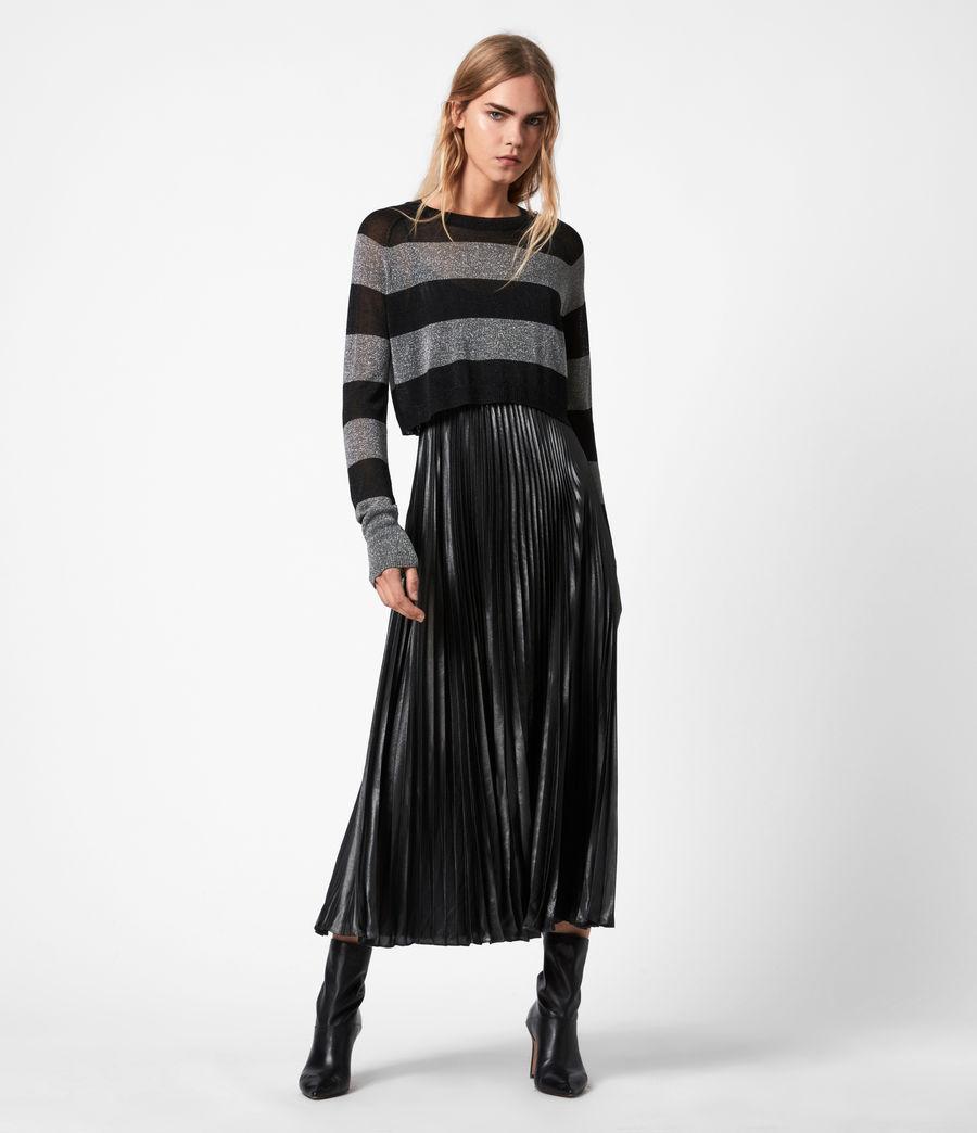 Womens Jaclyn Shine 2-In-1 Dress (silver_black_pewtr) - Image 1