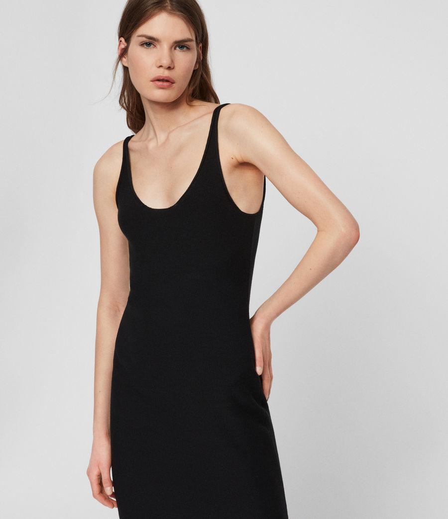 Femmes Robe Longue Blyth (black) - Image 1