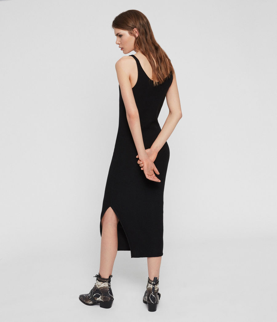 Womens Blyth Long Dress (black) - Image 5