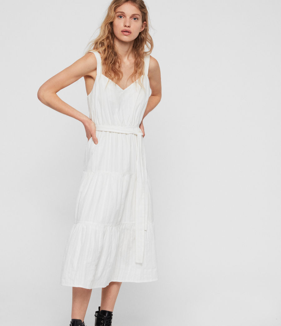 Women's Simone Adi Dress (chalk_white) - Image 1