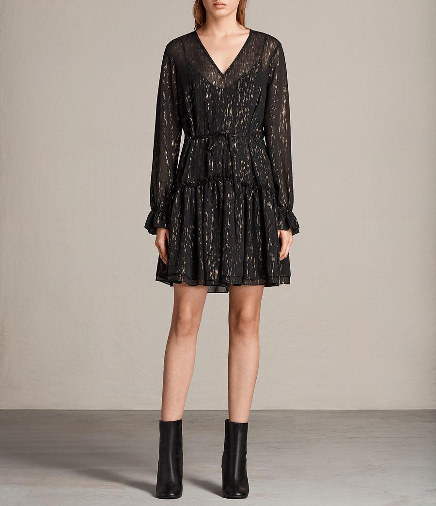 Mujer Vestido Alia Flec (black_gold) - Image 1