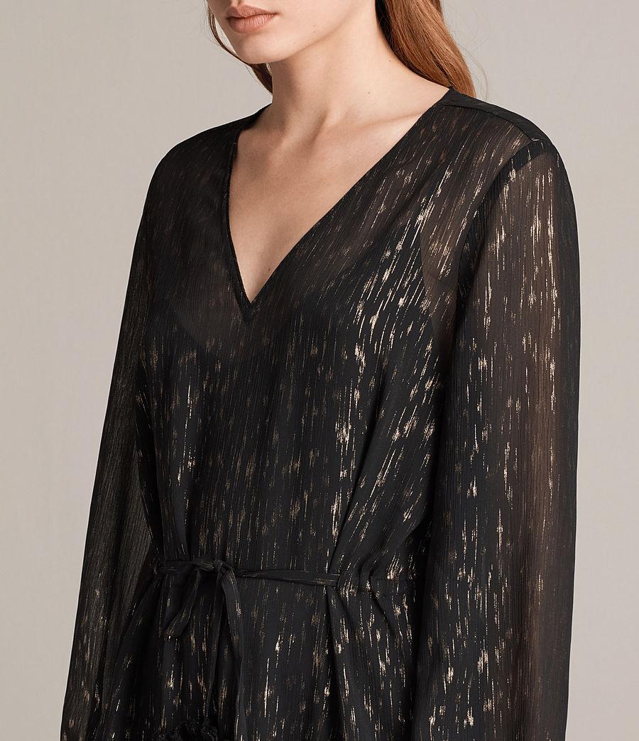 Mujer Vestido Alia Flec (black_gold) - Image 2
