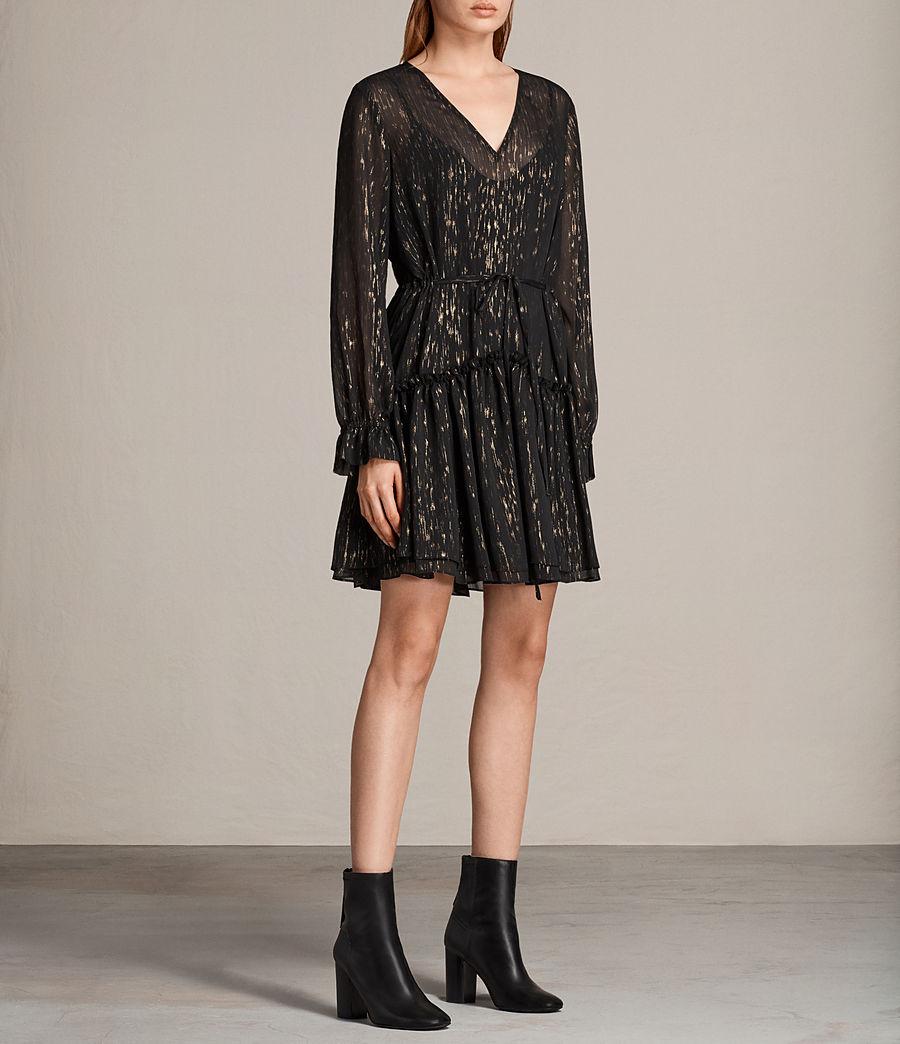 Mujer Vestido Alia Flec (black_gold) - Image 3