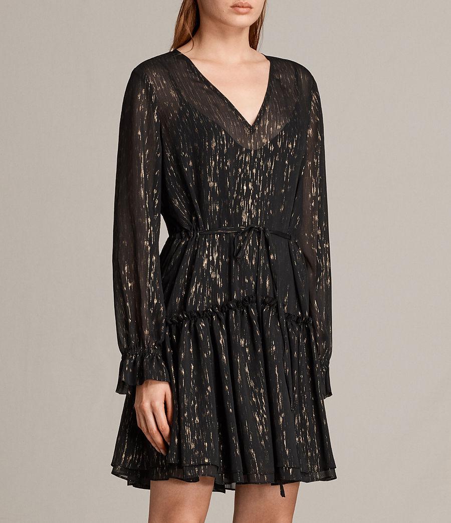 Mujer Vestido Alia Flec (black_gold) - Image 4