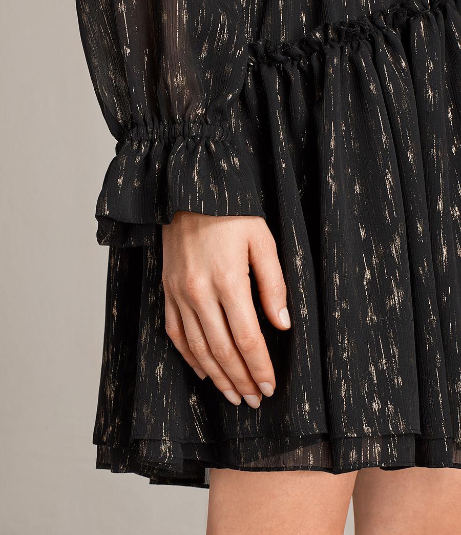 Mujer Vestido Alia Flec (black_gold) - Image 6
