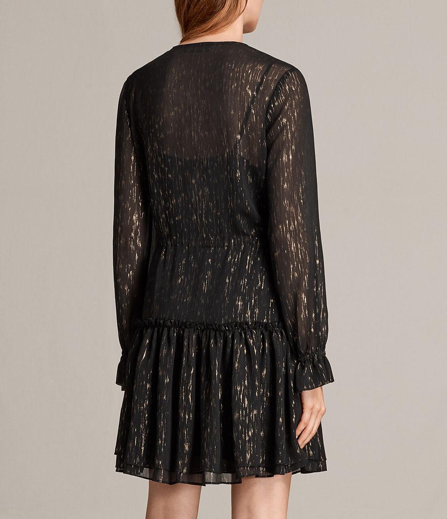 Mujer Vestido Alia Flec (black_gold) - Image 7