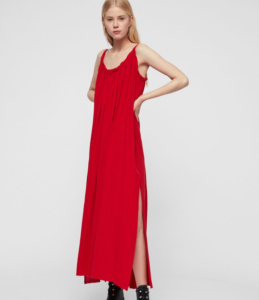 Womens Romey Long Dress (red) - Image 1