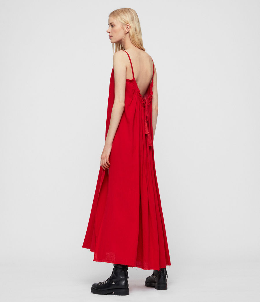 Womens Romey Long Dress (red) - Image 2
