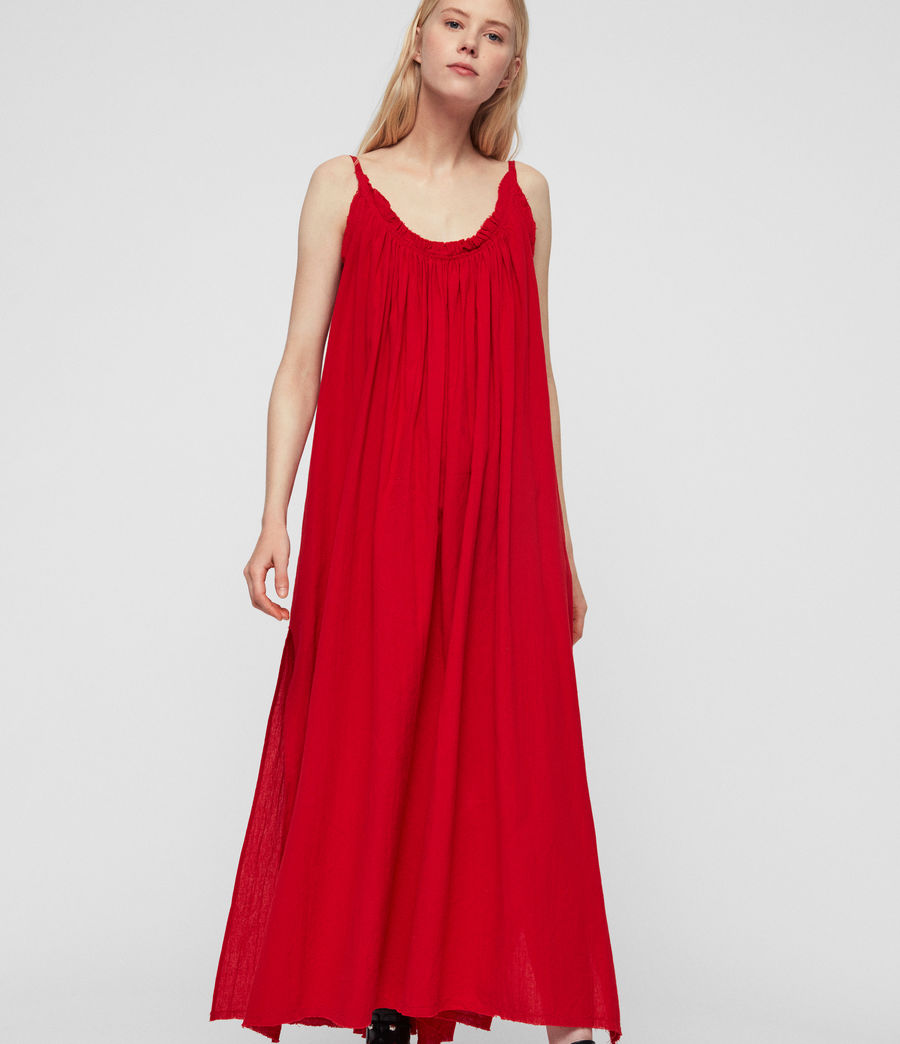 Womens Romey Long Dress (red) - Image 4