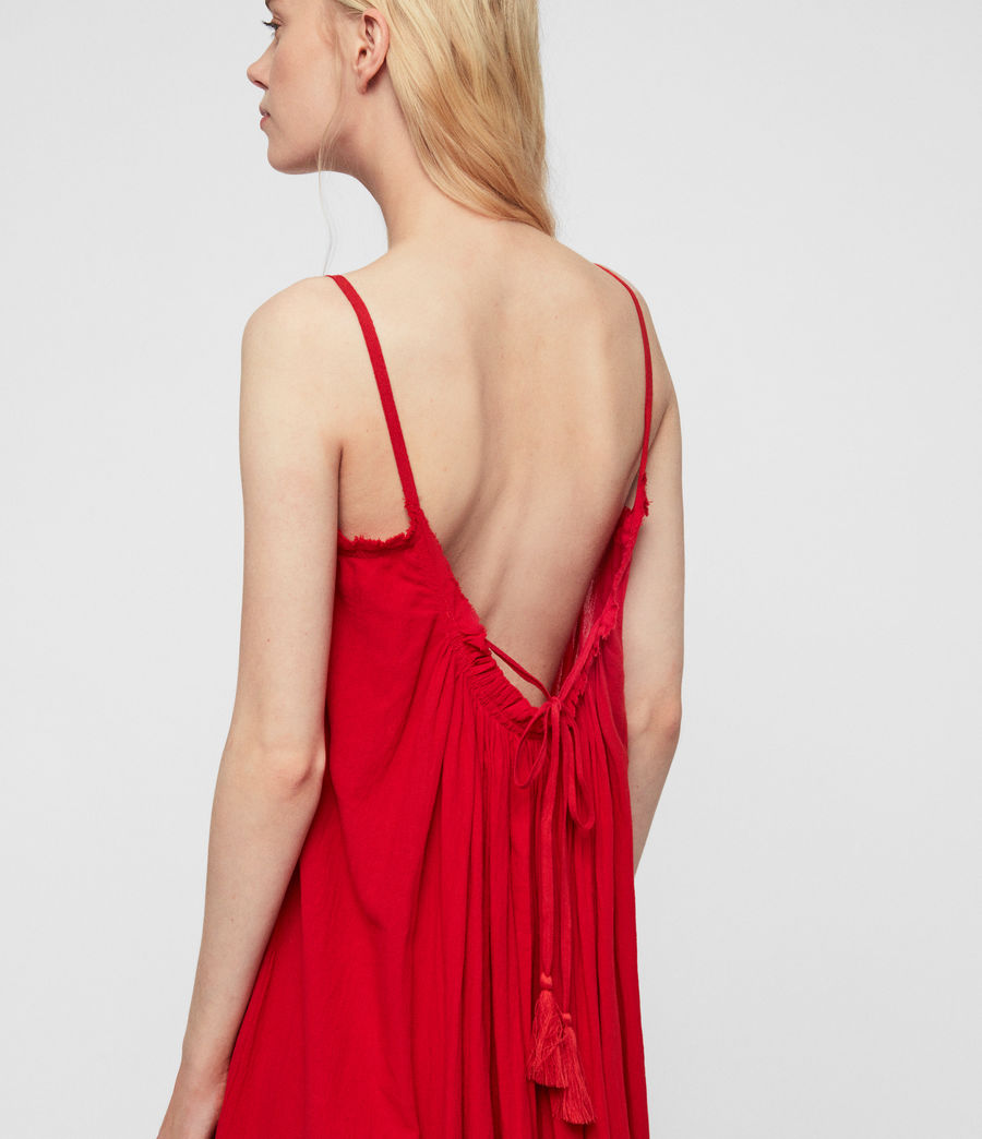Womens Romey Long Dress (red) - Image 6
