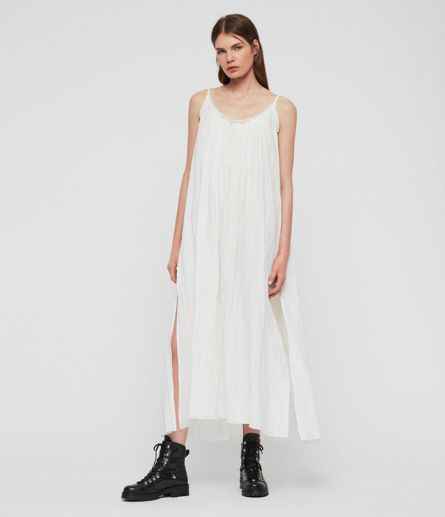 Damen Romey Maxikleid (chalk_white) - Image 1