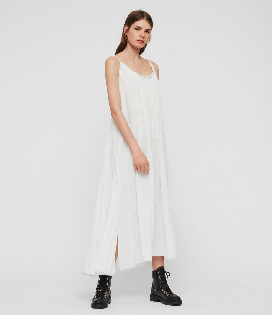 Women's Romey Long Dress (chalk_white) - Image 2