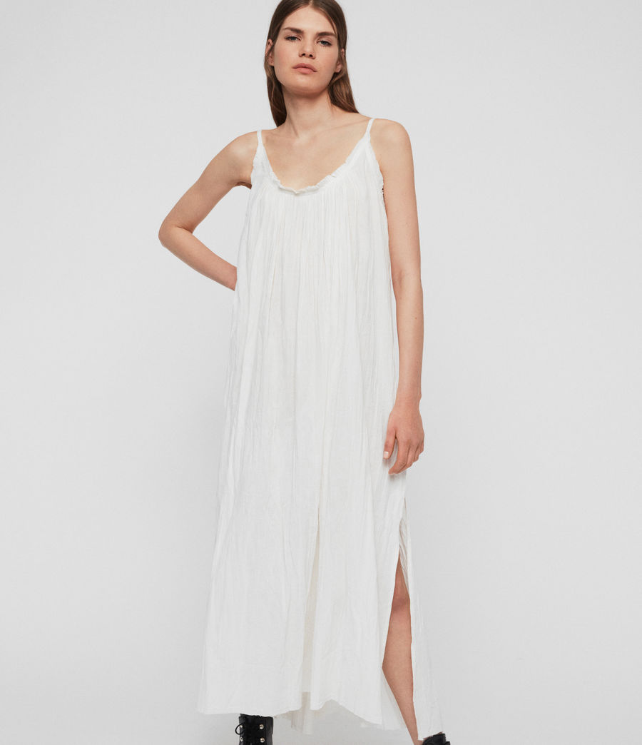 Women's Romey Long Dress (chalk_white) - Image 4