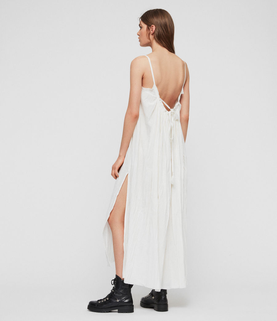 Women's Romey Long Dress (chalk_white) - Image 7