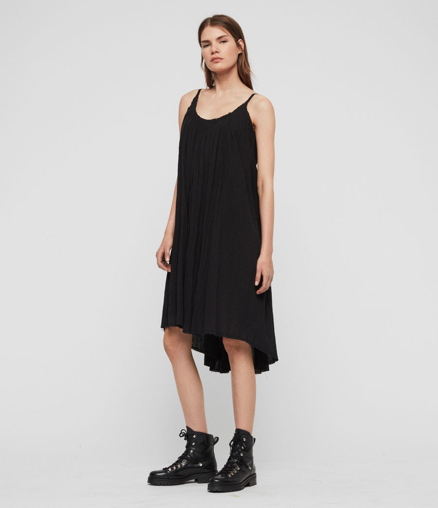 Women's Romey Short Dress (black) - Image 2