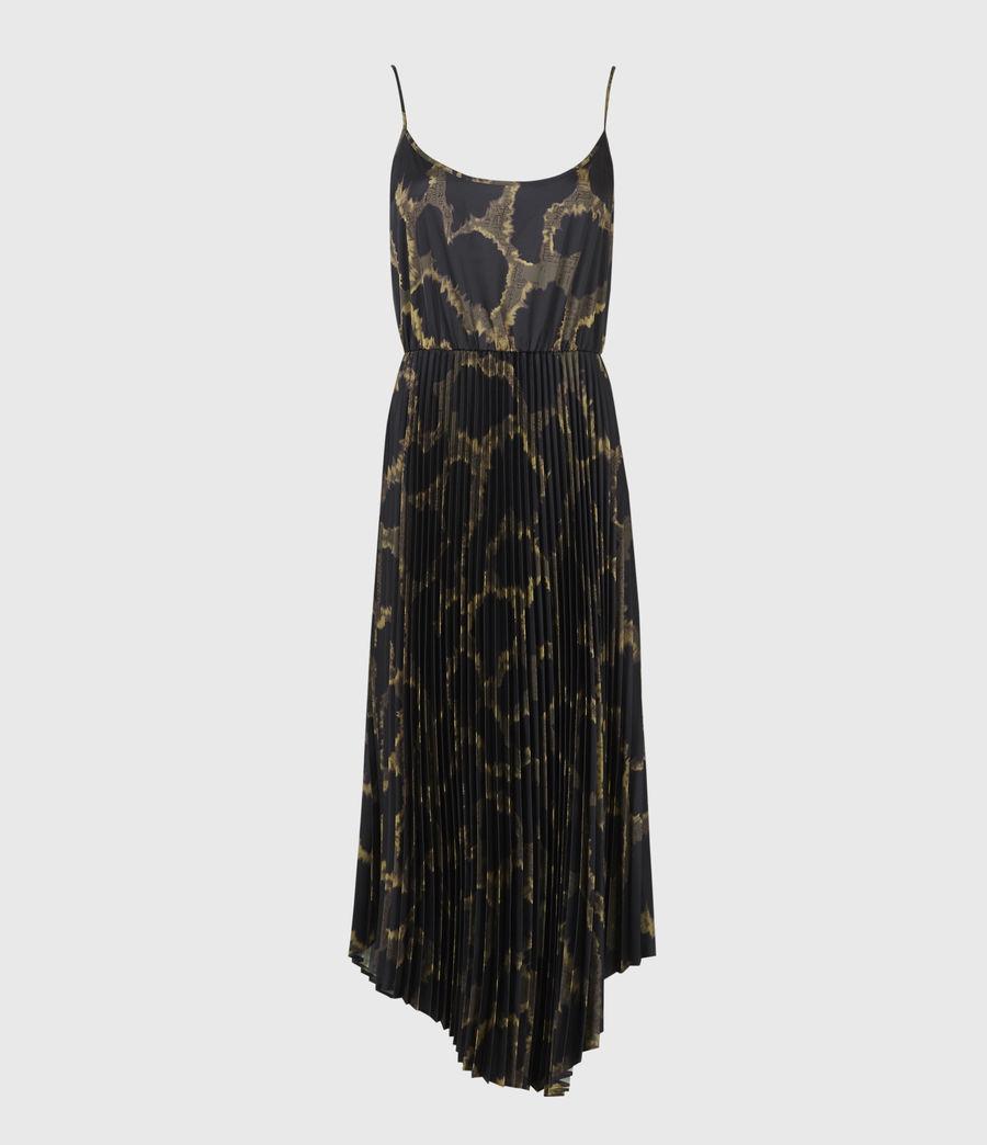 Womens Cynthya Tabula 2-In-1 Dress (black_khaki_green) - Image 2