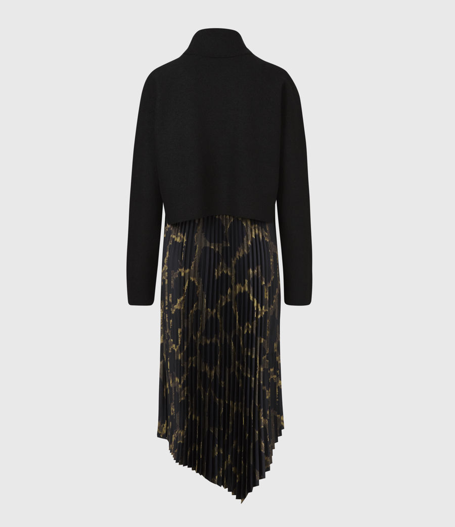 Womens Cynthya Tabula 2-In-1 Dress (black_khaki_green) - Image 3