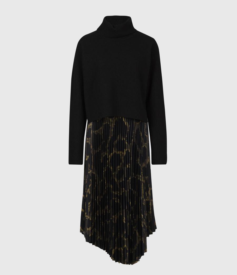 Womens Cynthya Tabula 2-In-1 Dress (black_khaki_green) - Image 4