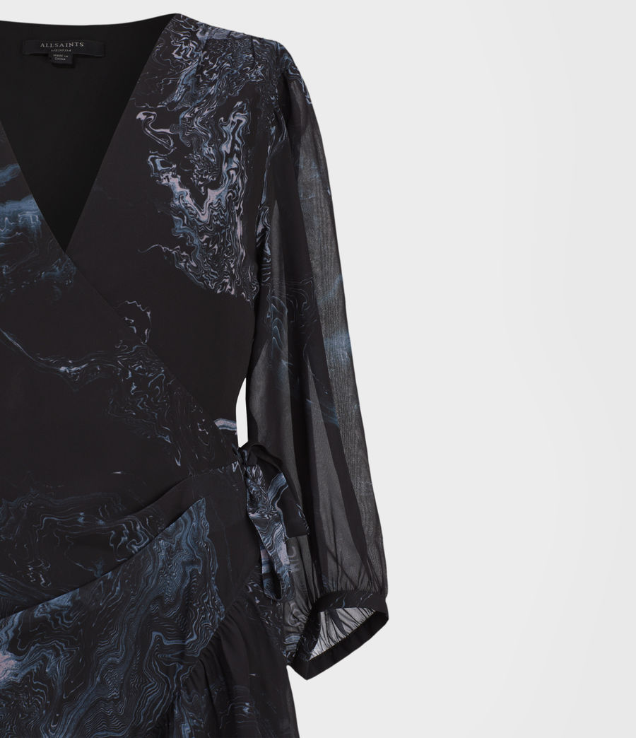 Women's Jade Hatsukoi Dress (oil_black) - Image 3