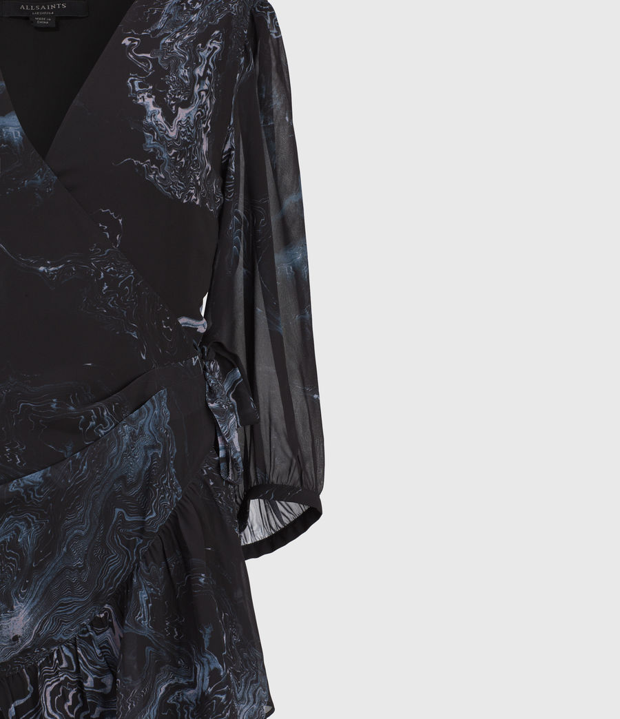 Women's Jade Hatsukoi Dress (oil_black) - Image 4