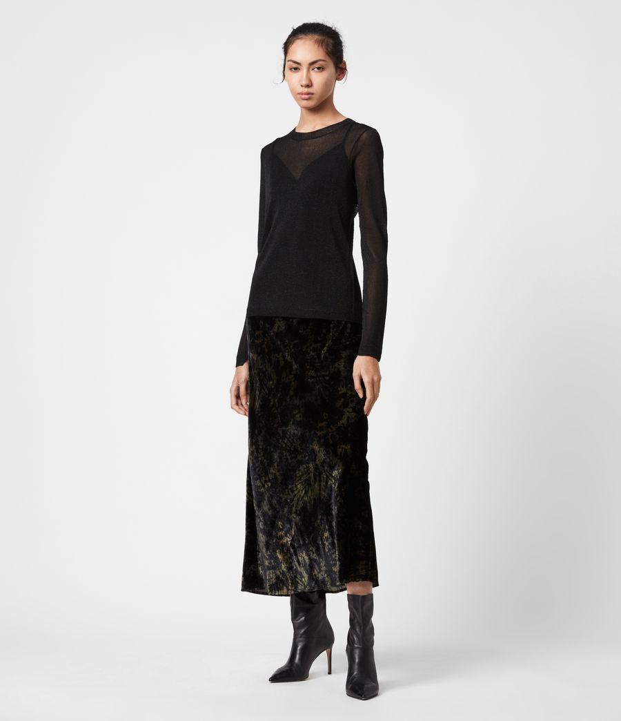 Women's Kelsie Peace 2-In-1 Dress (black_khaki_green) - Image 1