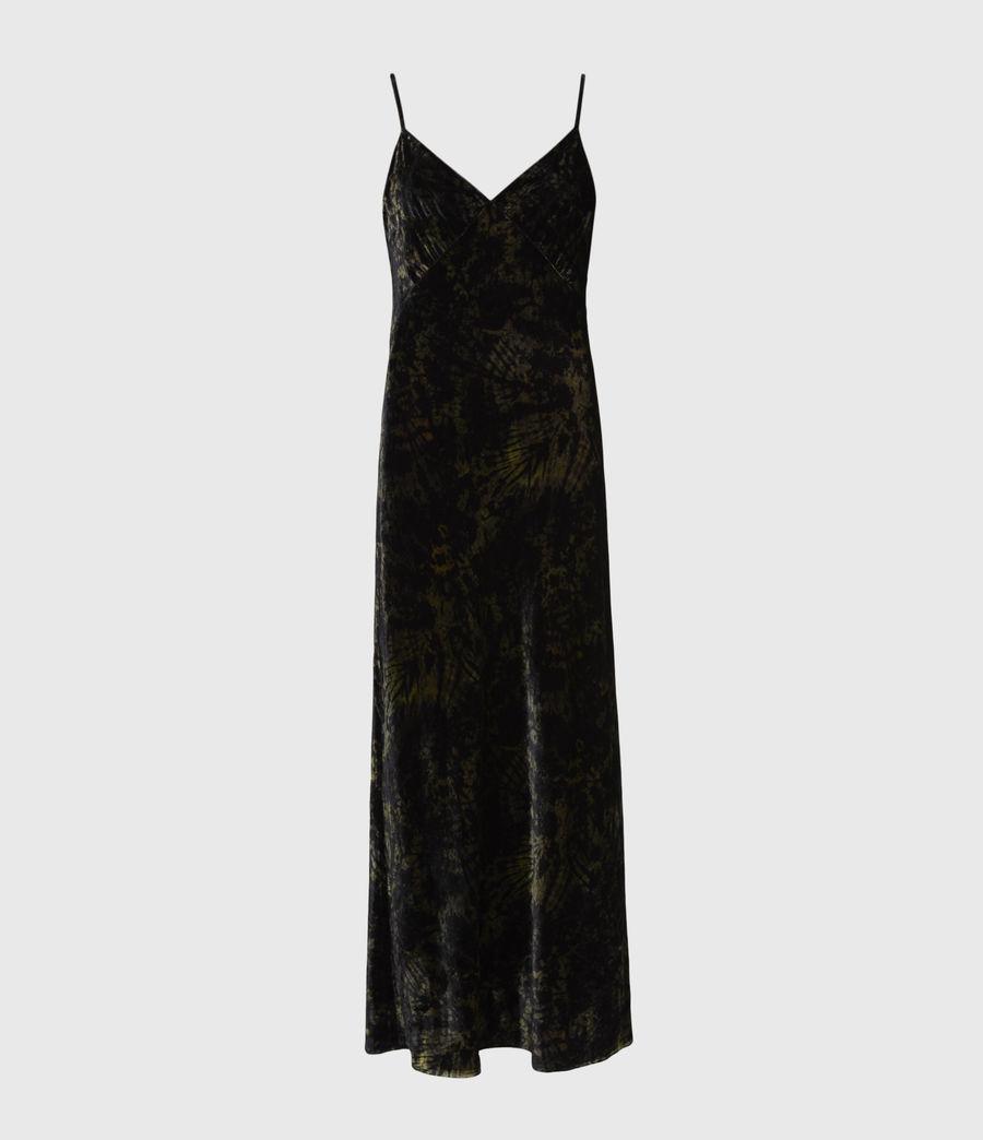 Women's Kelsie Peace 2-In-1 Dress (black_khaki_green) - Image 2