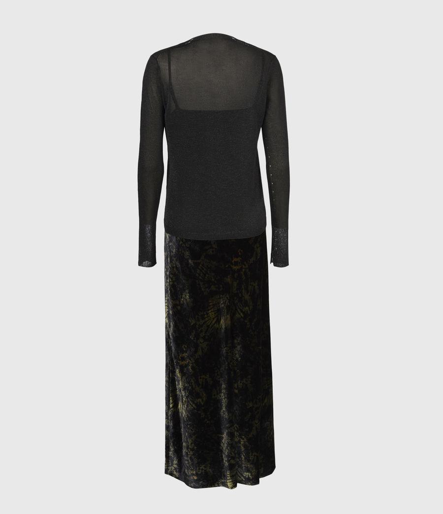 Women's Kelsie Peace 2-In-1 Dress (black_khaki_green) - Image 3