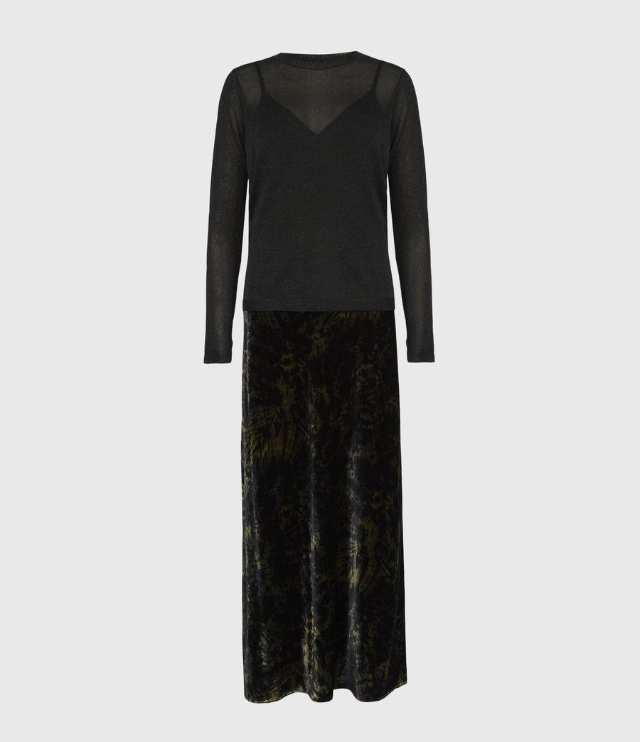 Women's Kelsie Peace 2-In-1 Dress (black_khaki_green) - Image 5