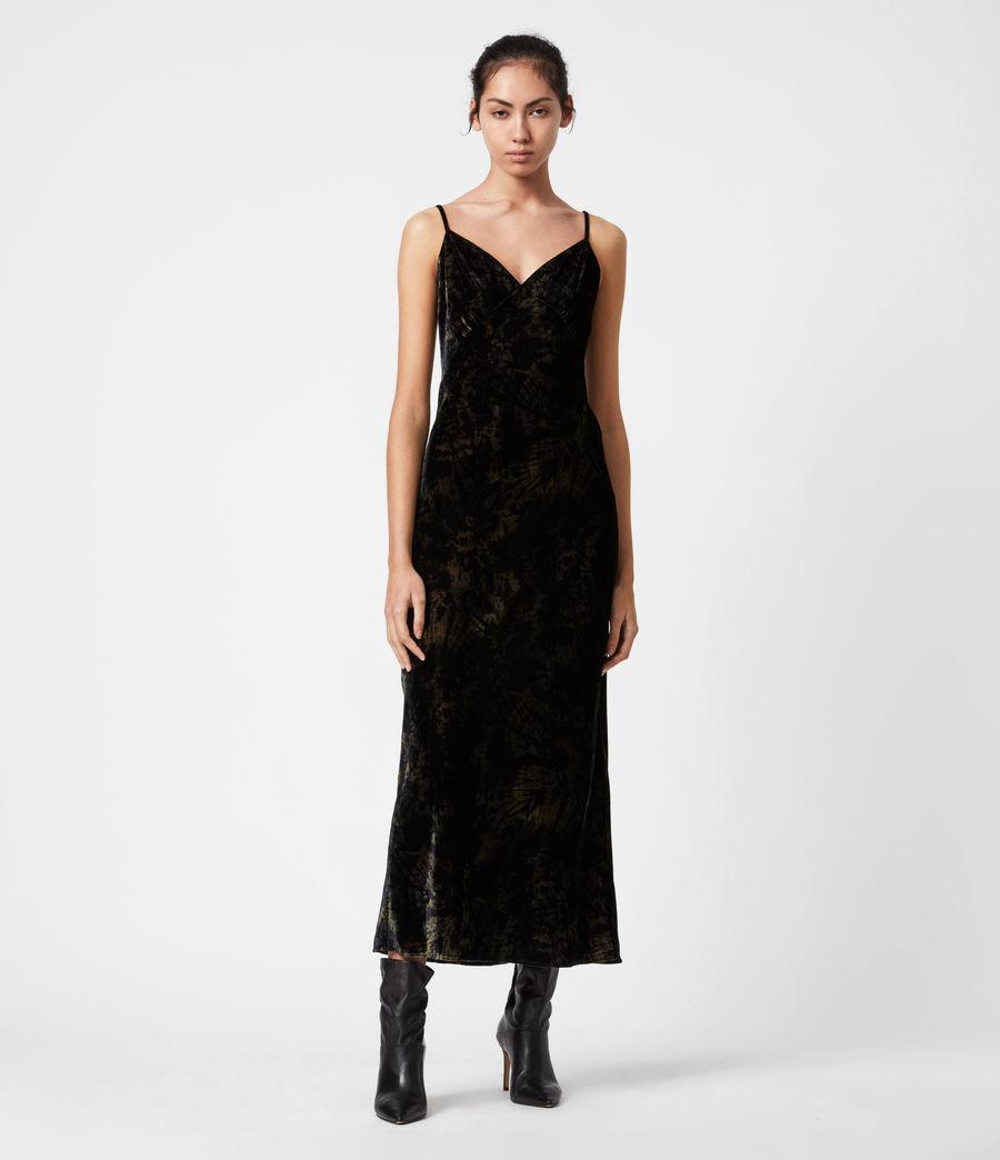 Women's Kelsie Peace 2-In-1 Dress (black_khaki_green) - Image 8