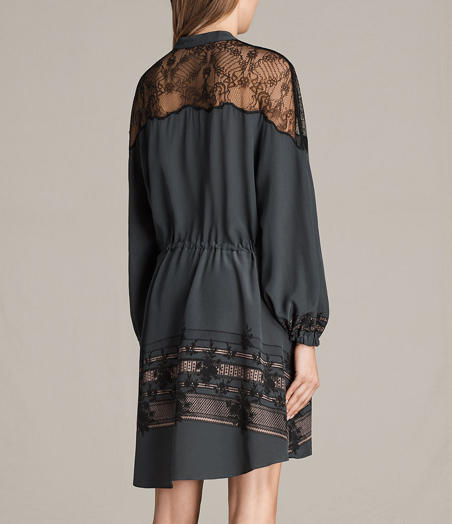 Womens Laya Baroco Dress (forest_green) - Image 6