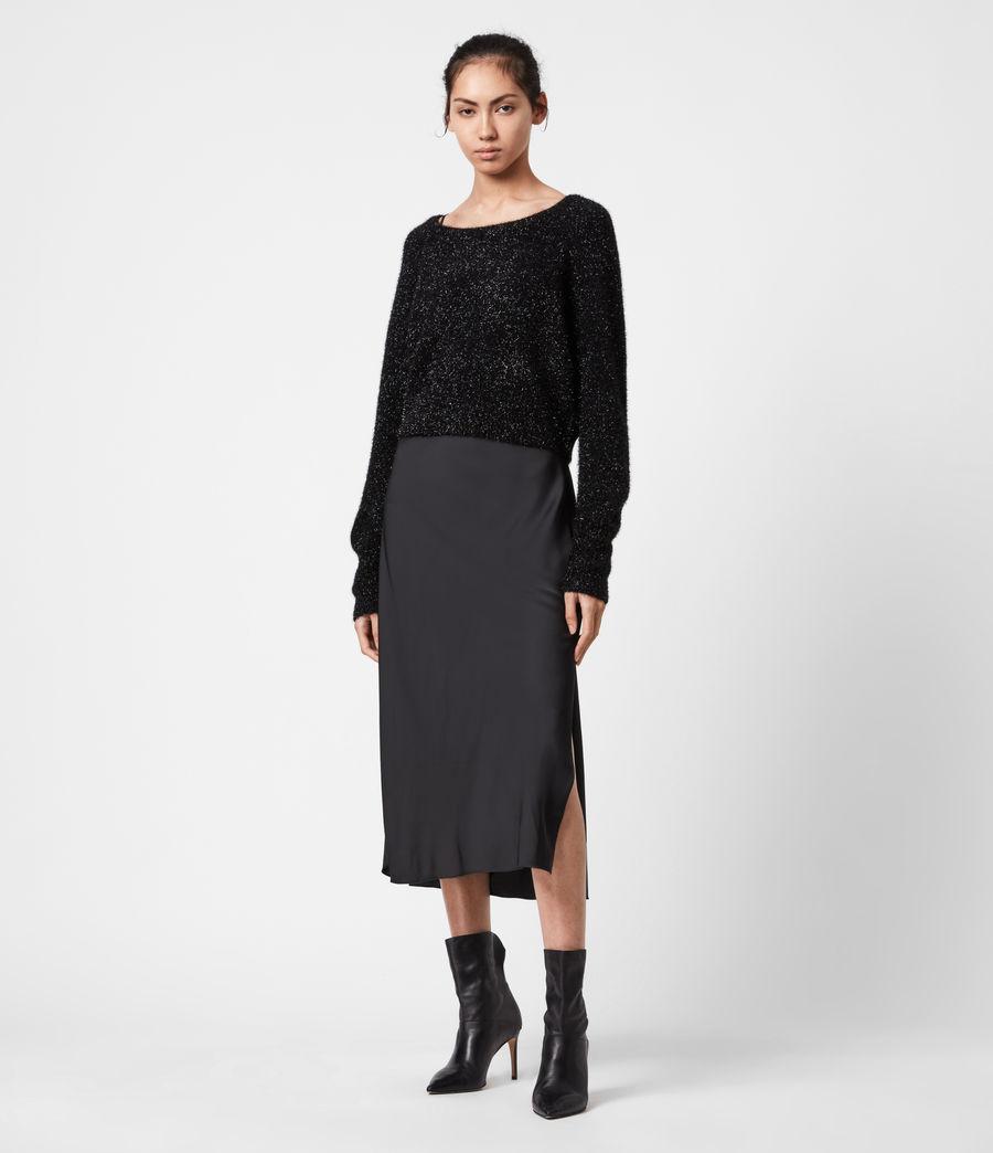 Womens Rosetta Tinsel 2-In-1 Dress (black) - Image 1