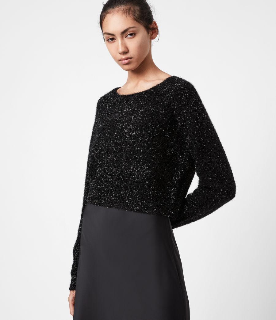 Womens Rosetta Tinsel 2-In-1 Dress (black) - Image 4