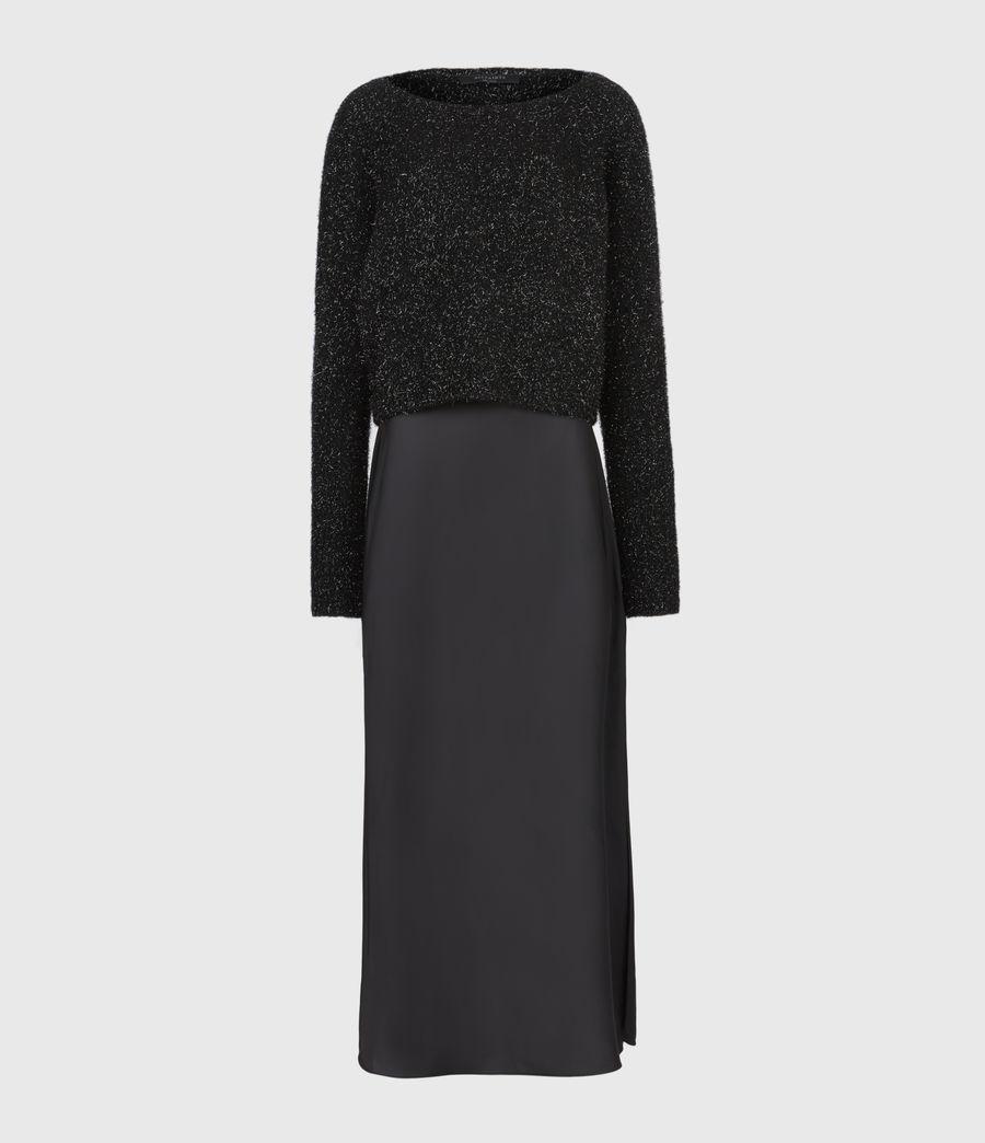 Womens Rosetta Tinsel 2-In-1 Dress (black) - Image 5
