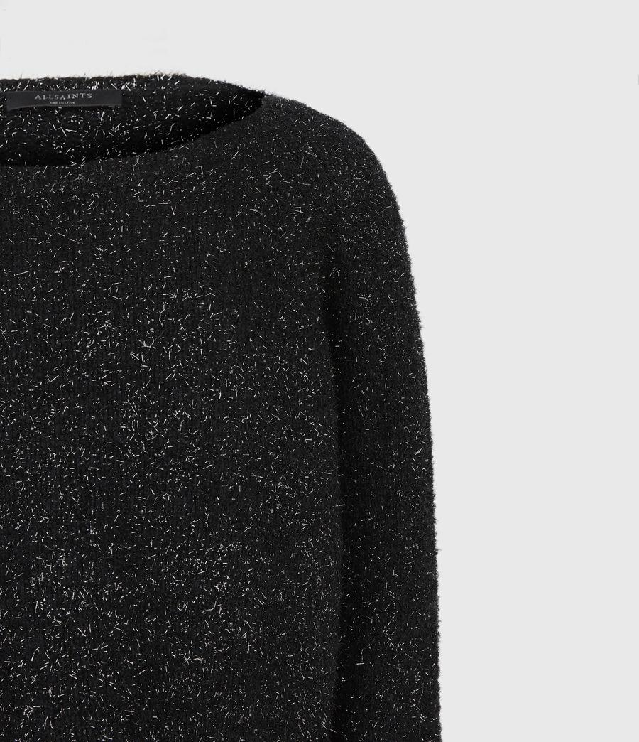 Womens Rosetta Tinsel 2-In-1 Dress (black) - Image 6