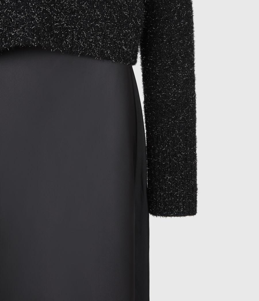 Womens Rosetta Tinsel 2-In-1 Dress (black) - Image 8