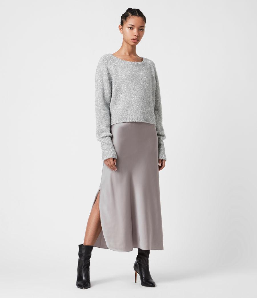 Womens Rosetta Tinsel 2-In-1 Dress (silver_pearl_grey) - Image 1