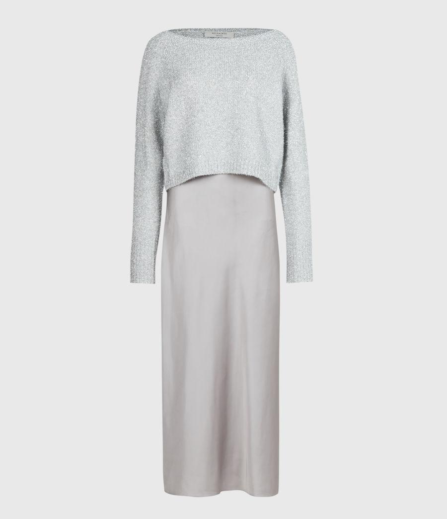 Womens Rosetta Tinsel 2-In-1 Dress (silver_pearl_grey) - Image 3