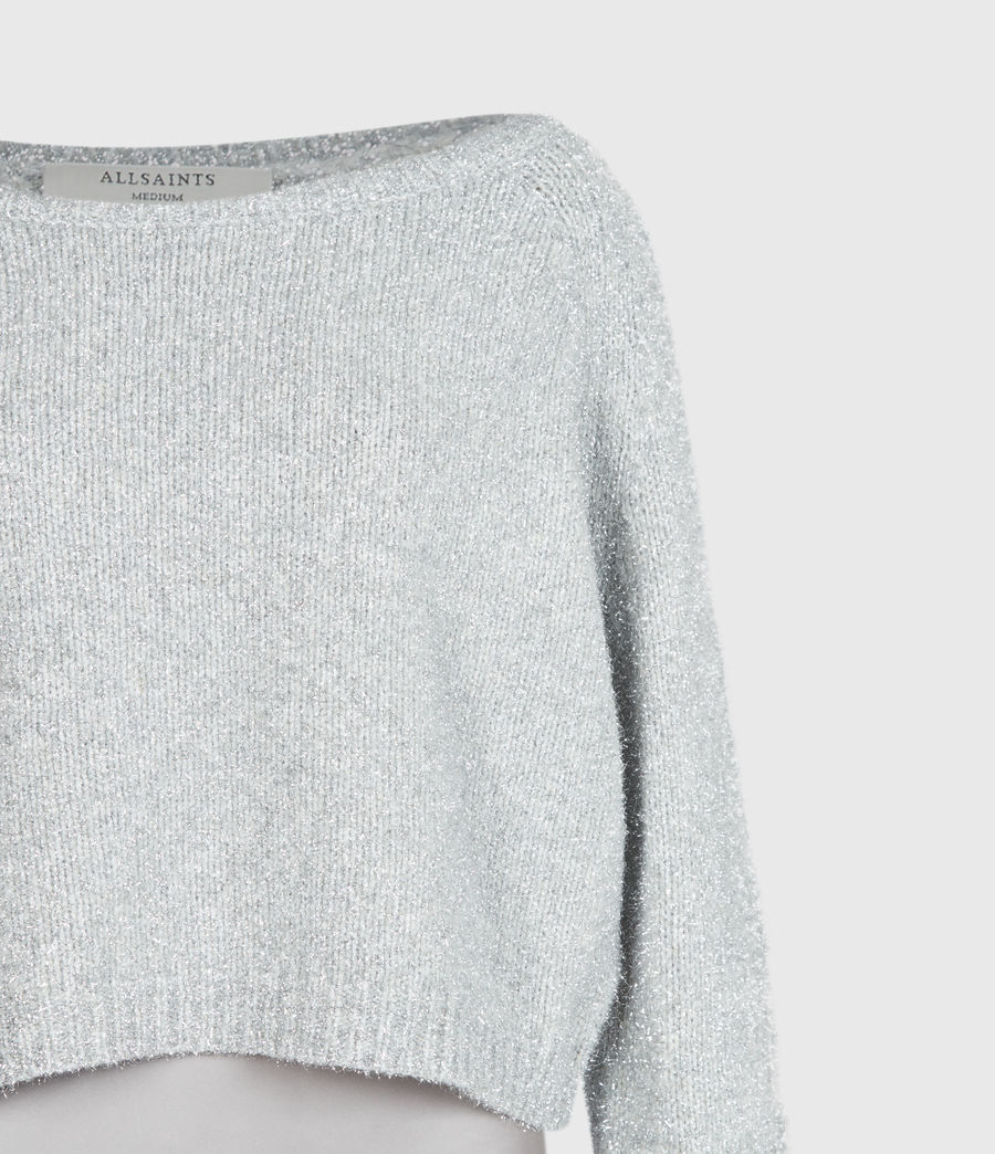 Womens Rosetta Tinsel 2-In-1 Dress (silver_pearl_grey) - Image 7