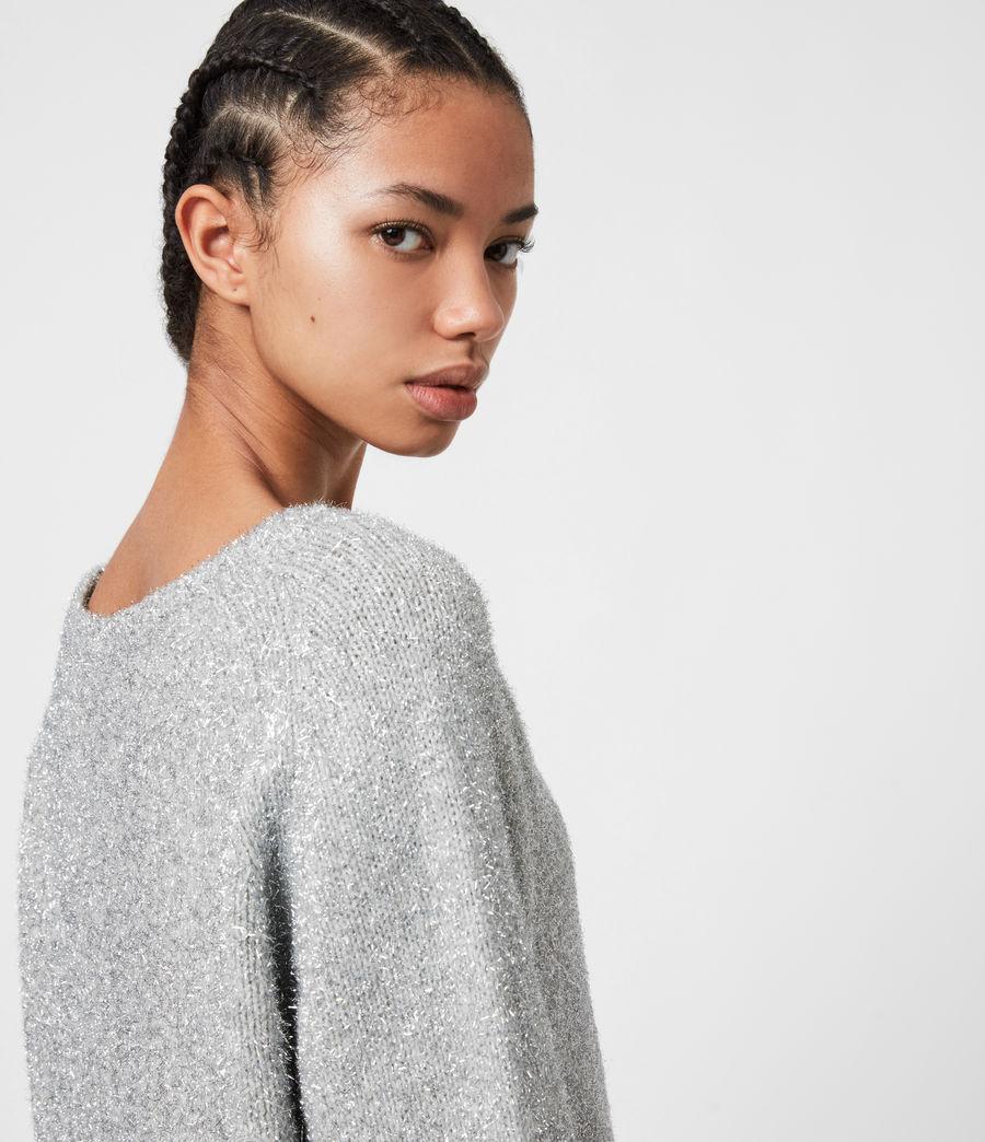 Womens Rosetta Tinsel 2-In-1 Dress (silver_pearl_grey) - Image 8