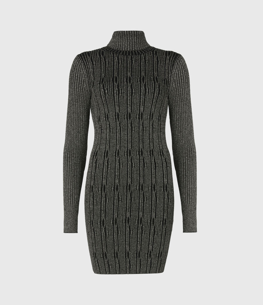 Womens Rosa Cable Dress (black_gold) - Image 2