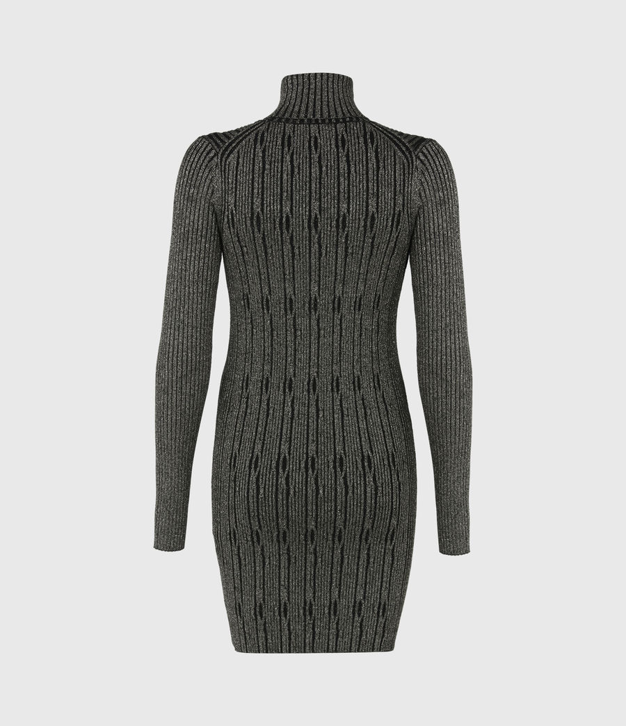 Womens Rosa Cable Dress (black_gold) - Image 3
