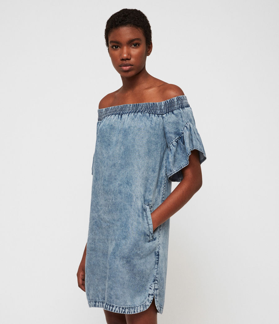 Womens Adela Tencel Dress (indigo_blue) - Image 1