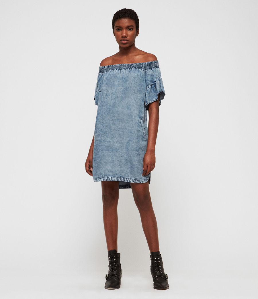 Womens Adela Tencel Dress (indigo_blue) - Image 2