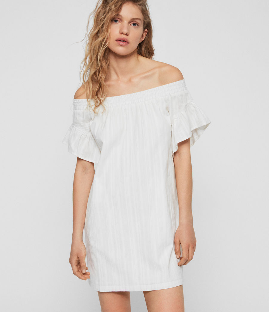 Women's Adela Adi Dress (chalk_white) - Image 1