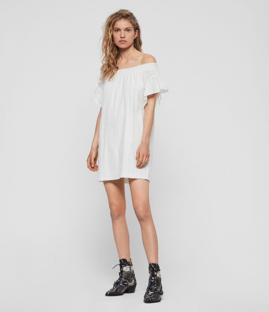 Women's Adela Adi Dress (chalk_white) - Image 2
