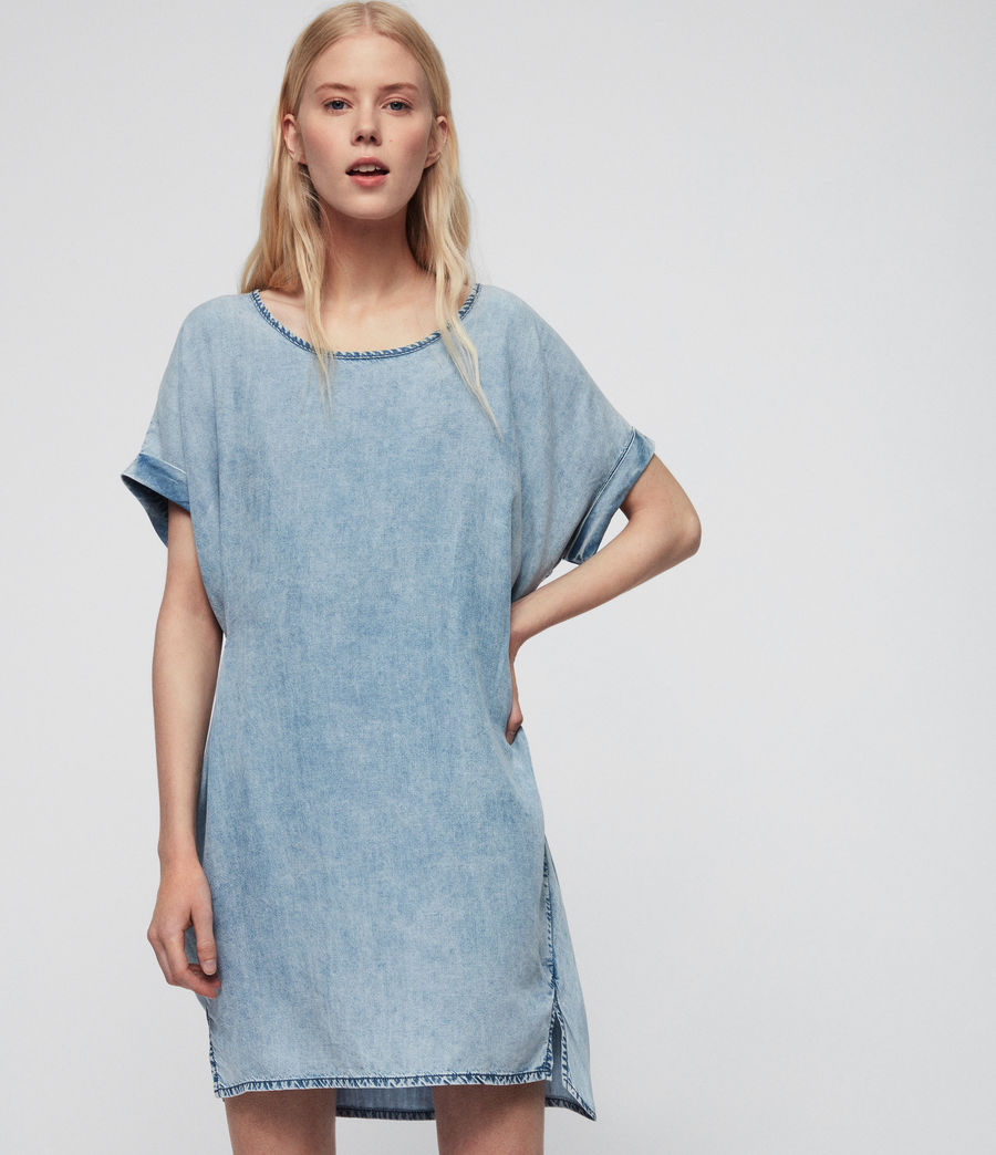 Women's Sonny Tencel Dress (mid_idg_snow_wash) - Image 1