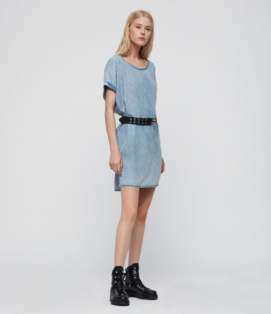 Women's Sonny Tencel Dress (mid_idg_snow_wash) - Image 2